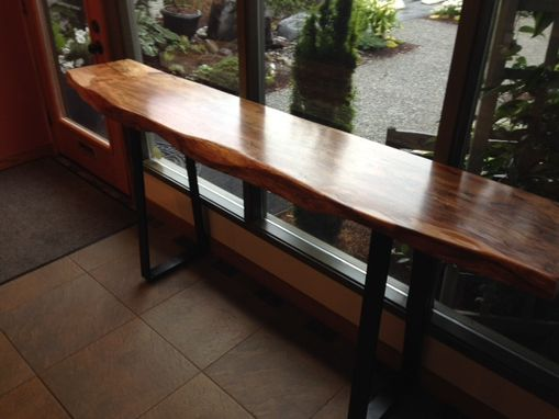 Custom Made Live Edge Console Tables
