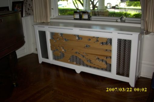 Custom Made Radiator Cabinet With Tree Front