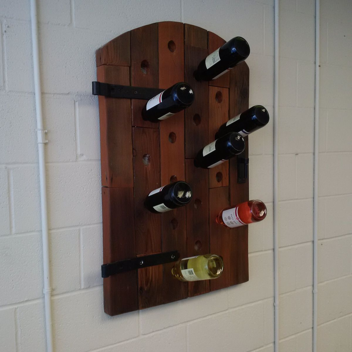 Buy a Handmade Barn Wood Wine Rack, made to order from ... |Unique Wood Wine Rack