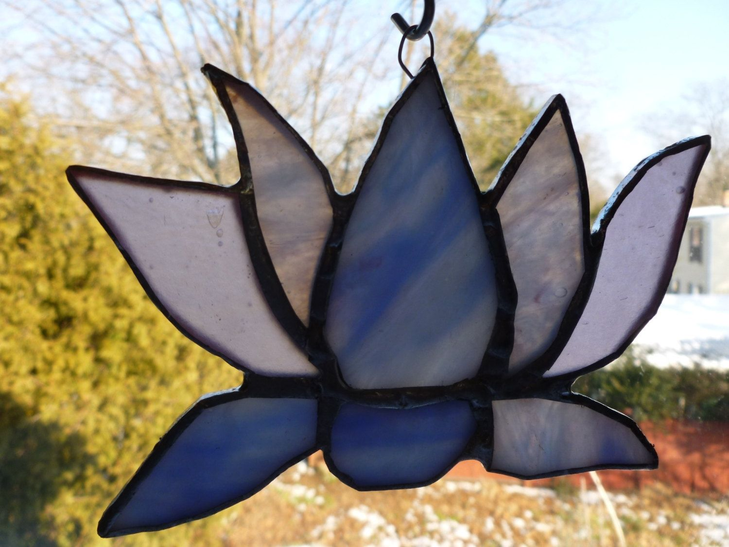 Buy A Custom Stained Glass Lotus Flower Made To Order From Glass