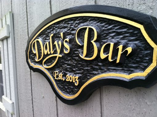 Custom Made Carved Bar / Pub Sign