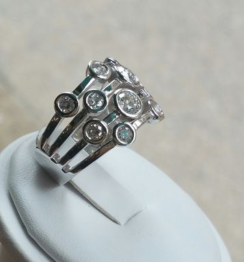 Custom Made Stunning Bubble Bezel Ring/ Statement Ring