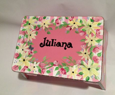 Custom Made Childs Step Stool Custom Painted