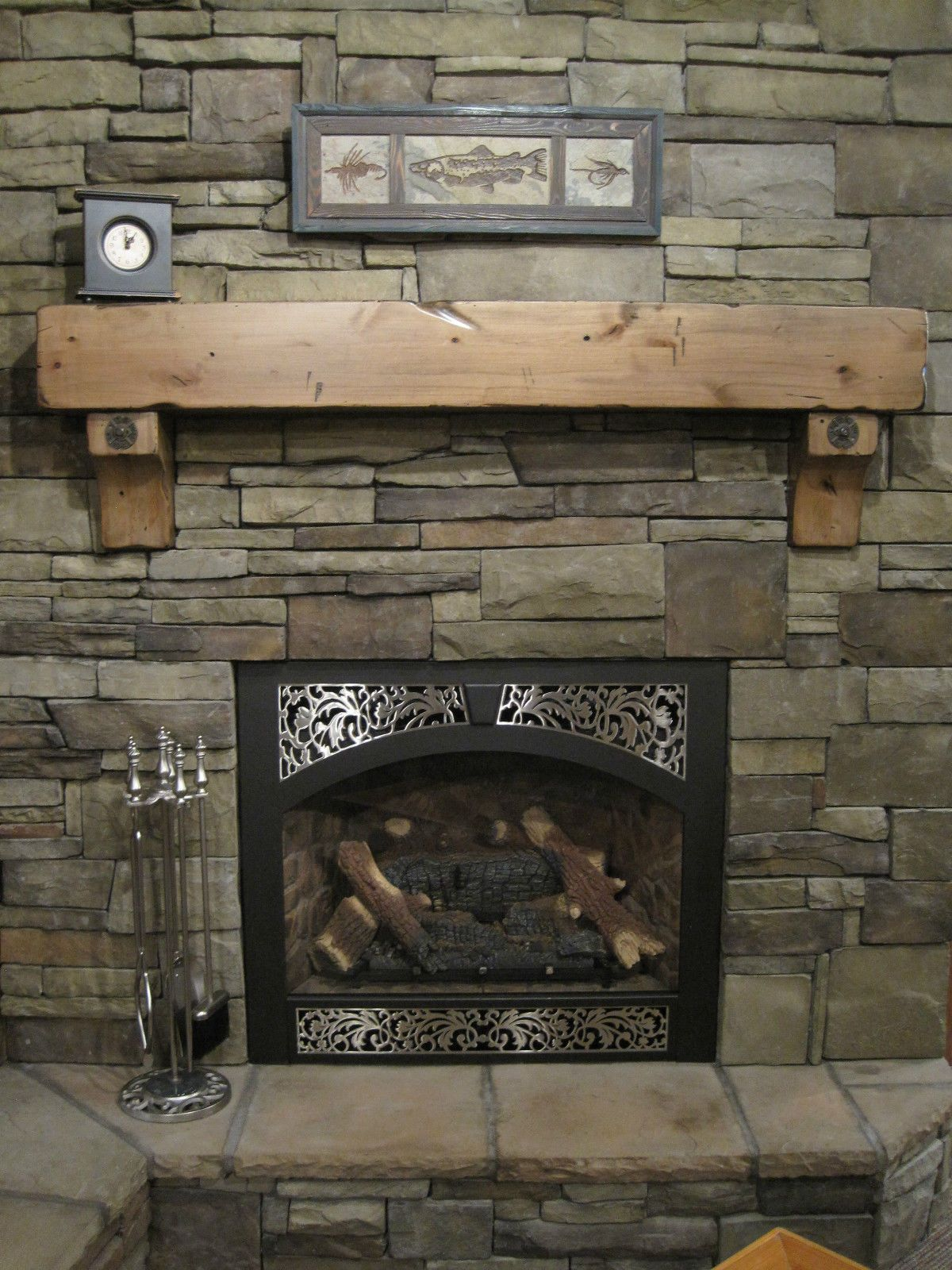 buy a hand crafted knotty alder fireplace beam mantel rustic