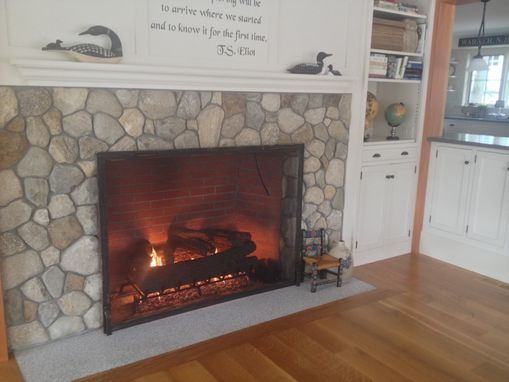 Custom Made Custom Textured Fireplace Screen