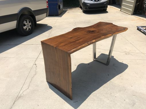 Custom Made Walnut Waterfall Dining Table