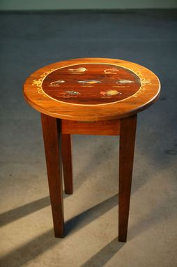 Custom Made Fly Fishing Round End Table