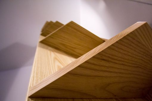 Custom Made Solid White Ash Corner Shelf