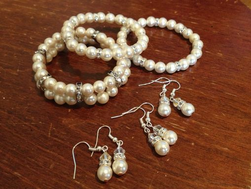 Custom Made Wedding Bracelets Using Vintage Pearls