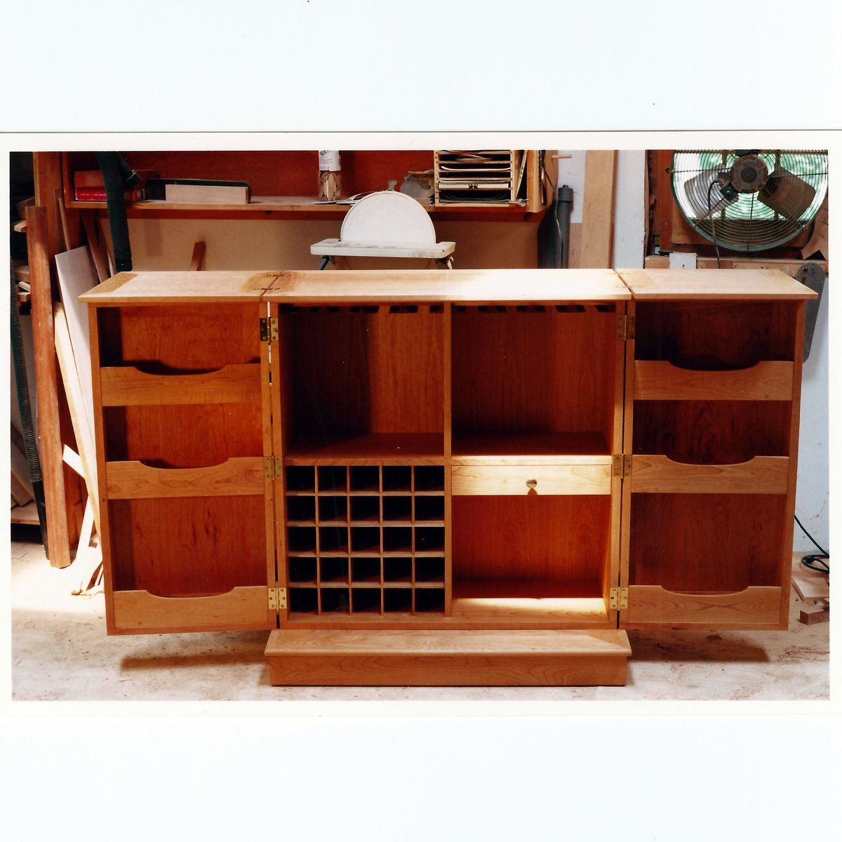 Buy A Hand Made Fold Out Liquor Cabinet Made To Order