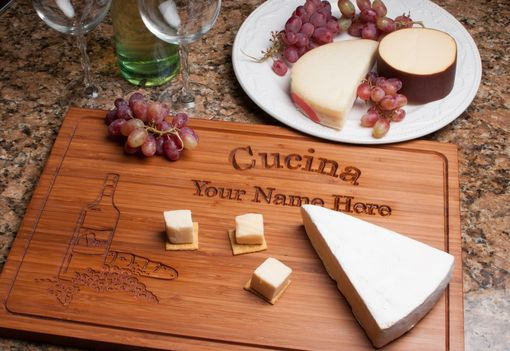 Custom Made Large Engraved Bamboo Serving Board