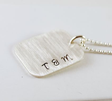 Custom Made Anniversary Necklace Personalized With Initials And Date