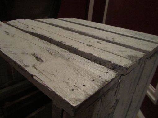 Custom Made Oyster White Pallet Side Table