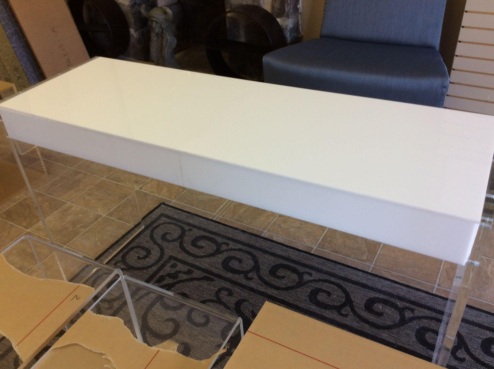 on sale 4fb00 7732f Buy a Hand Crafted Custom Hand Made Acrylic Vanity Desk ...