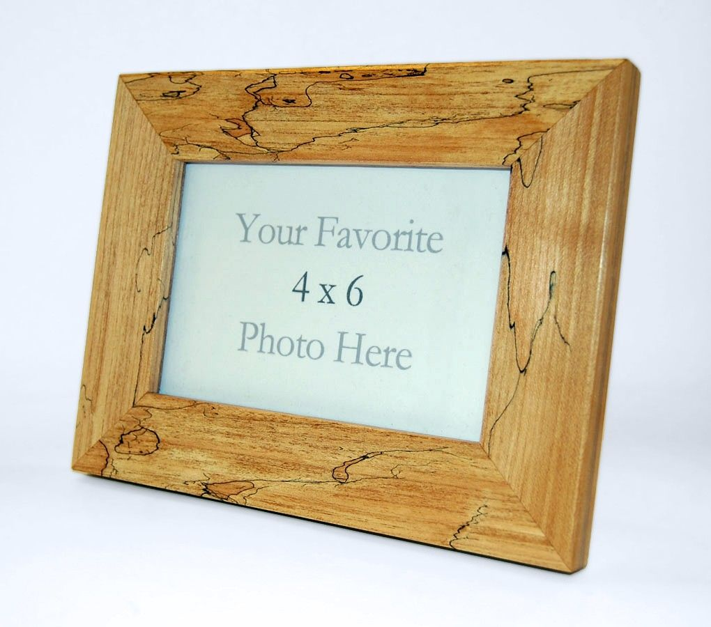 hand made spalted maple 4 x 6 picture frame by subterranean woodworks. Black Bedroom Furniture Sets. Home Design Ideas