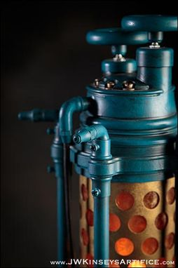 Custom Made The Harrogate Table Lamp: An Industrial Themed Accent Table Lantern