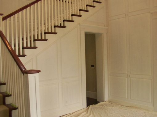 Custom Made Bright White Foyer With Mahogany Accent In San Francisco, Ca