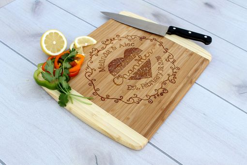 Custom Made Personalized Cutting Board, Engraved Cutting Board, Custom Wedding Gift – Cb-Bam-Chandler