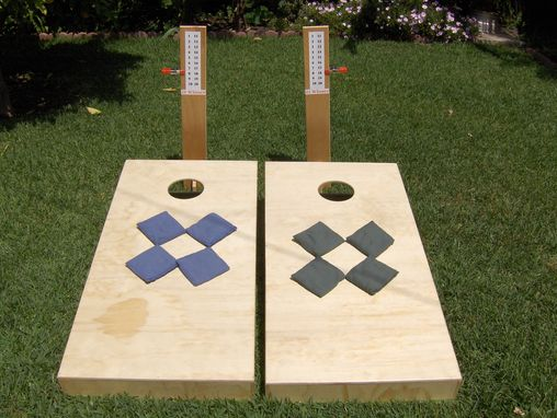 Custom Made Cornhole Bag Toss Game Set