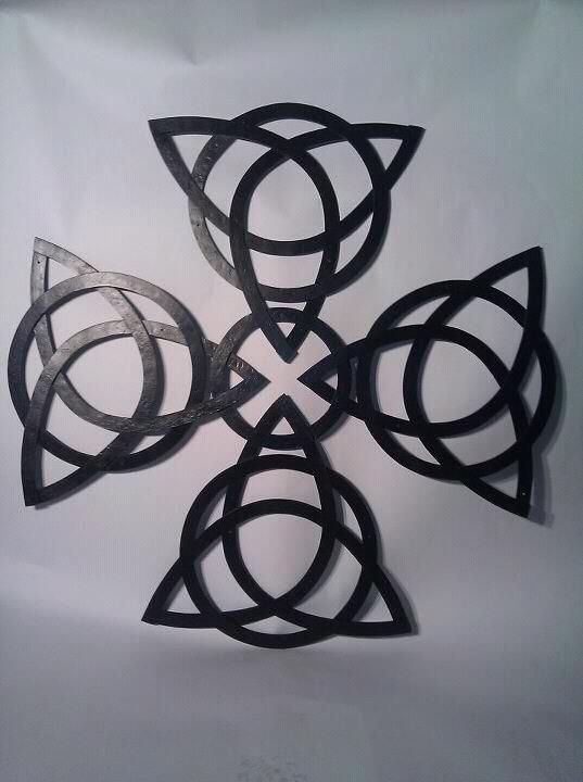 Custom Celtic Knot Cross Wall Art by Milwaukee Blacksmith ...