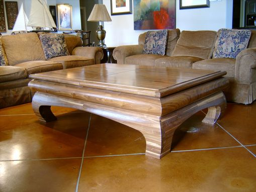 Custom Made Walnut Sliding Top Coffee Table