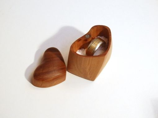 Custom Made You Are My Salt Heart-Shaped Engagement Ring Box And Saltcellar