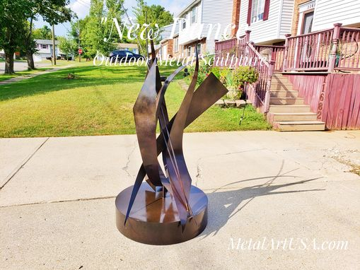"Custom Made ""New Dance"" Wedding Anniversary / Abstract Metal Sculpture"