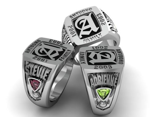 Custom Made Class Ring With Detailed Engraving
