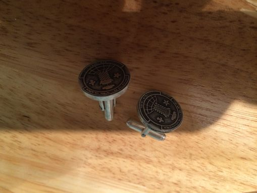 Custom Made Sterling Silver Cufflinlks