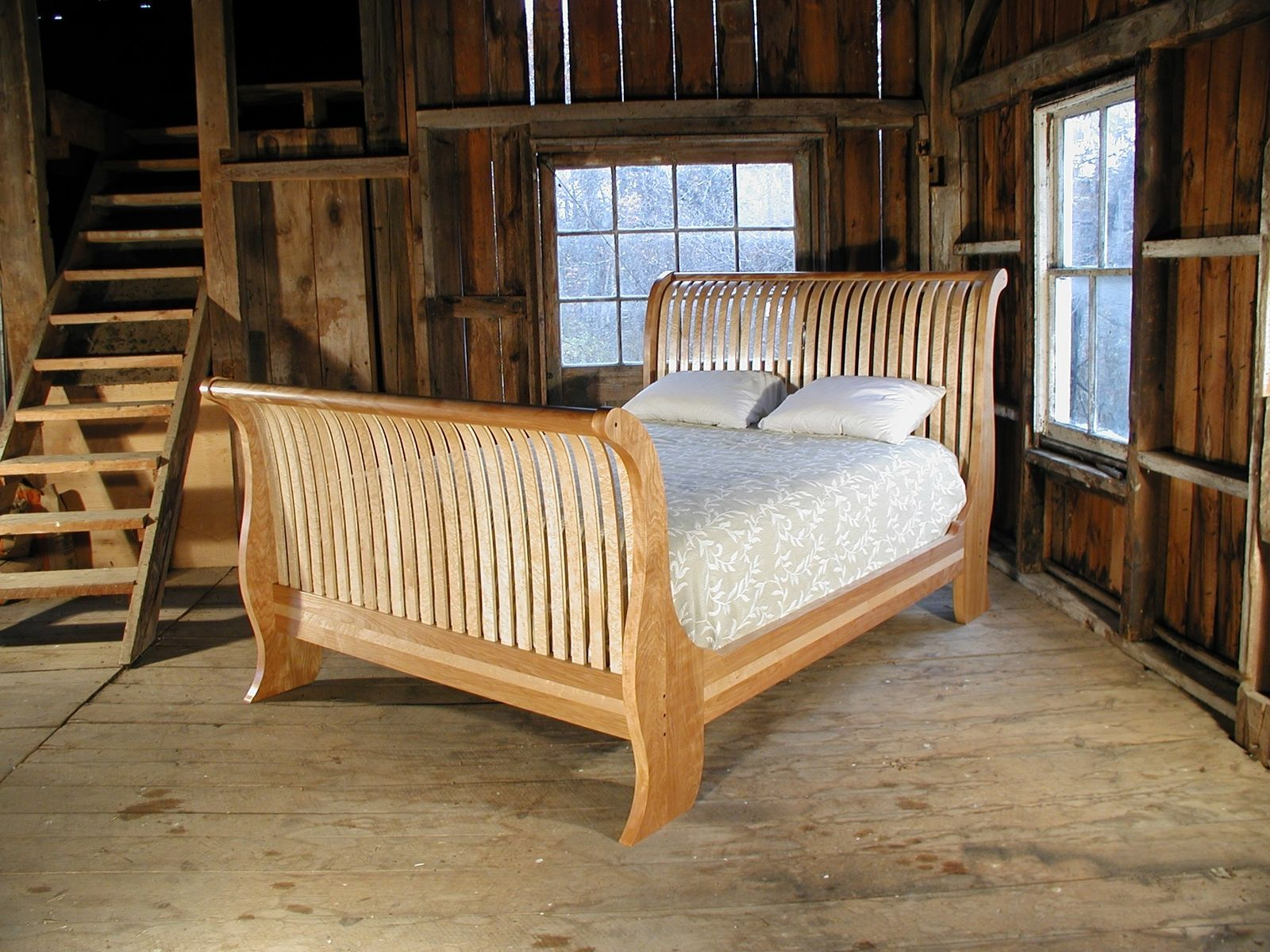 Custom Made Sleigh Bed By Brookside Woodworking