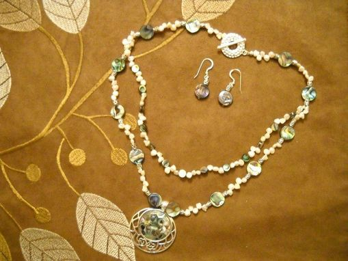 Custom Made Silver And Abalone Necklace