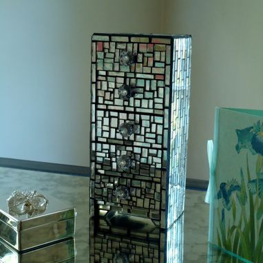 Custom Made Mirror Mosaic Jewelry Box - 5 Drawers