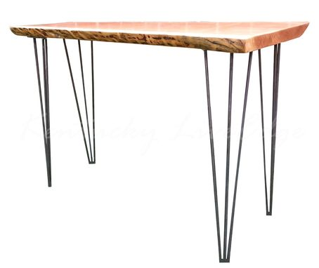 Custom Made Laptop Desk- Writing Desk- Console Table- Writing Desk- Soafe Table- Natural Edges