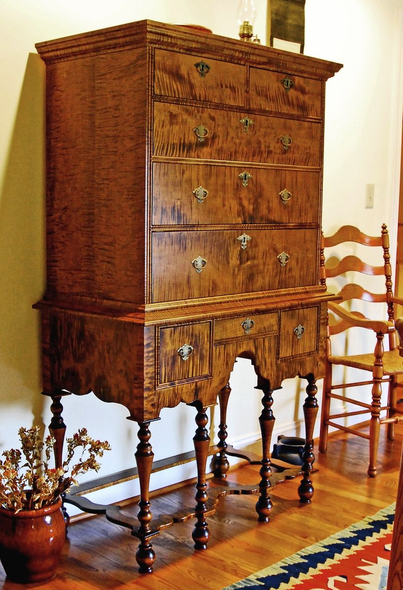 Custom William And Mary Highboy By Diaman Woodcrafters