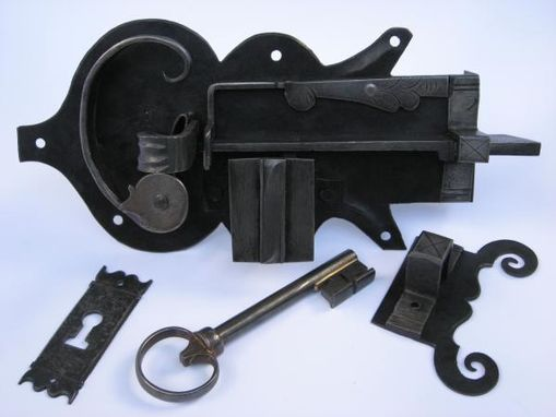Custom Made Hand Forged Iron Door Locks