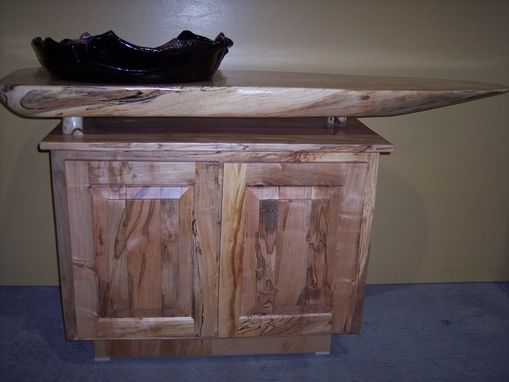 Custom Made Maple Cabinet With Peter King Sink