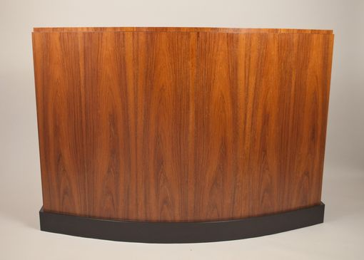 Custom Made Teak Bowfront Tv Cabinet