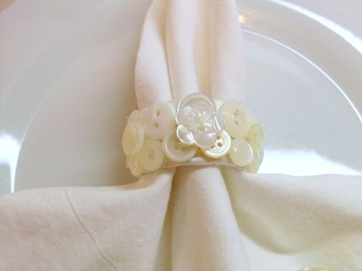 Custom Made Napkin Holders With Buttons In Set Of Four