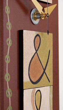 Custom Made Pendulum Wall Clock - Ampersand Design By Infinity Arts - Ready To Ship