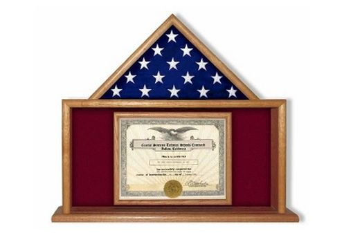 Custom Made Semper Fi Flag Display Case, Semper Fidelis Flag Display Cases