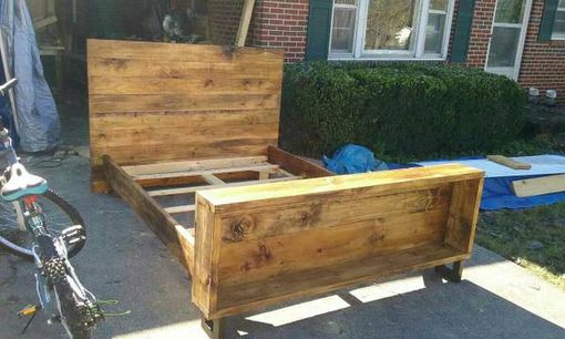 Custom Made Rustic Bed