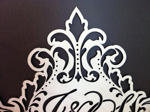 Custom Made Laser Cut Wood Wedding Monogram Guestbook