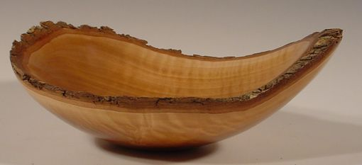 Custom Made Bradford Pear Natural Edged Wood Bowl