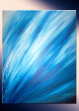 Custom Made Original Painting By Laffertyart - Blue Abstract Sale 22% Off