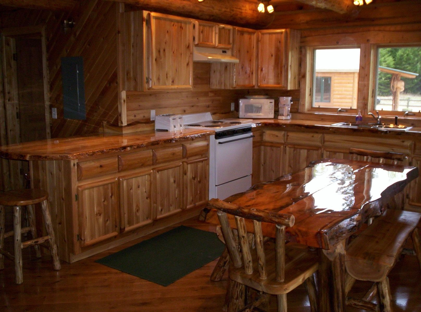 Hand Crafted Custom Rustic Cedar Kitchen Cabinets By King Of The Forest Furniture Custommade