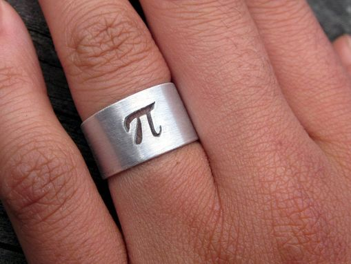 Custom Made Pi Ring In Sterling Silver