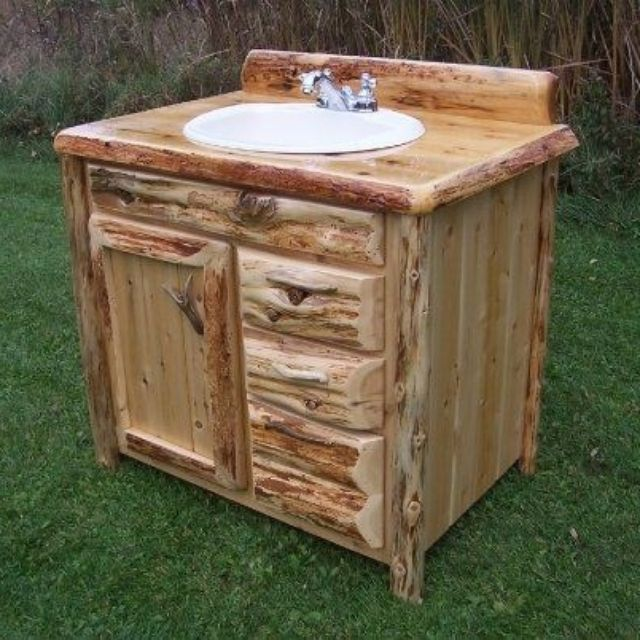 Custom Bathroom Vanities Michigan custom rustic cedar bathroom vanityking of the forest