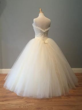 Custom Made Poofy Tulle Wedding Dress Ball Gown