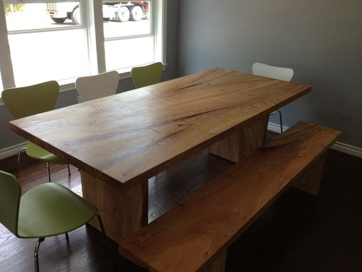 Custom Made Elm Table And Bench
