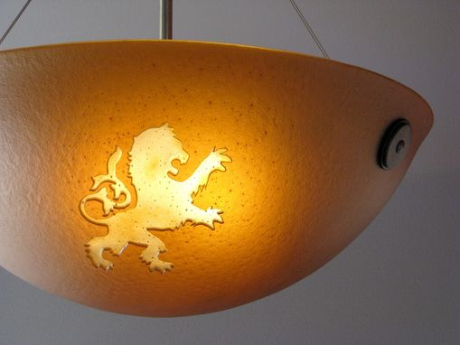 Custom Made Rampant Lion Pendant Light